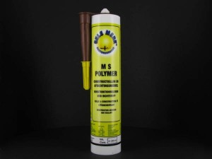 Gele Merk MS-Polymer, kleur bruin, koker, 290 ml