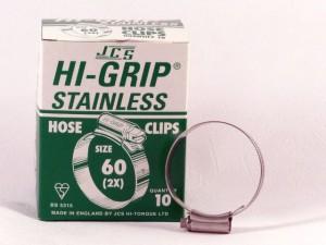 Hi-Grip slangklem, RVS, no.  60, voor 45-60 mm, inh. doos 10 st.