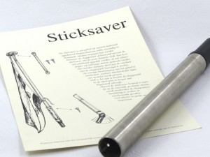 Sticksaver, flexibele vlagstokhouder, RVS 316