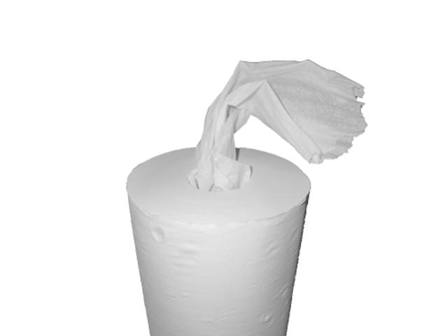 Gele Merk Papierrol, 100% cellulose, 2-lgs, 24cm/ 380 m, 2 rollen